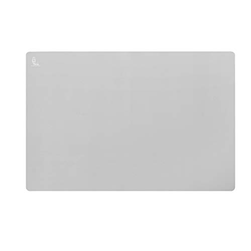 Super Kitchen Extra Large Multipurpose Silicone Nonstick Baking Mat, Pastry Mat, Heat Resistant Nonskid Table Mat, Countertop Protector, 23.4'' By 15.6''(Cool Gray)