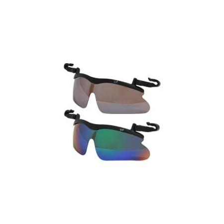 らくらく帽子掛け偏光レンズサングラス キャップグラス 偏光サングラス ゴルフ UV カット【※このページは「ブラウンミラー」のみの販売です】◆ブラウンミラー