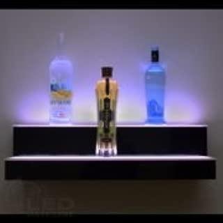 LED Baseline Lighted Floating Wall Shelf 2 Tier (36