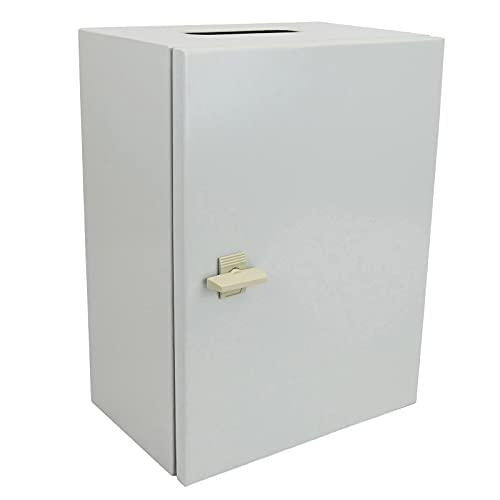 BeMatik - Caja de distribución eléctrica metálica con protección IP65 para fijación a Pared 500x400x200mm