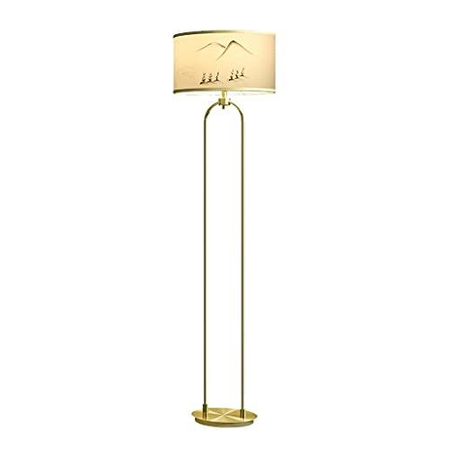 Lámpara De Pie De Oro Lámpara De Pie Moderna Con Tinta Y Lavado Paisaje Lienzo Arte Lámpara Lámpara De Metal Cepillado Lámpara (Color : Floor lamp)