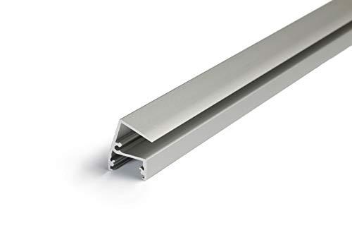Alumino Eloxiertes Glaskantenprofil für 10mm LED-Streifen mit einklickbarer Linsenabdeckung: C Linse Klar - XAR