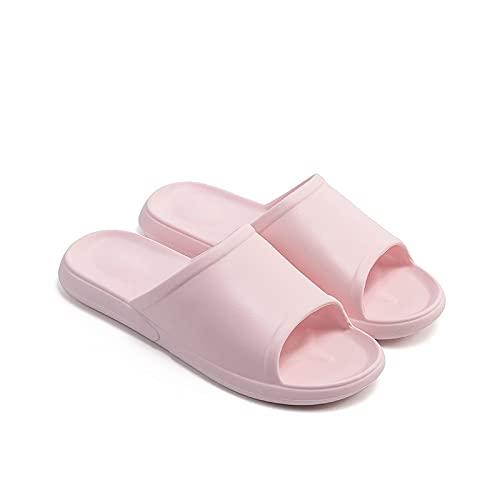YHshop Pantuflas Playa Ladies Baño Zapatos Ducha Interior Sandalias Antideslizantes Soft Family Slippers Dormitorio Habitación Piscina Sandalias Sandalias (Color : Pink, Size : 7#)
