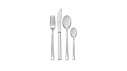Gerlach Besteck-Set Glänzend Onda, Edelstahl, Silber, 30 x 27 x 5 cm, 24-Einheiten