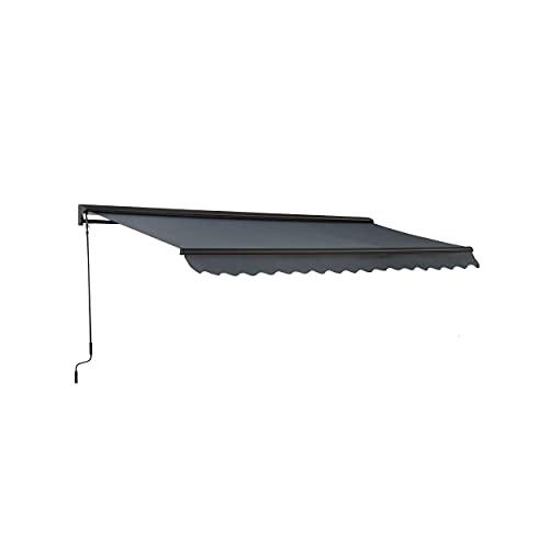 Oviala Store banne avec Coffre Gris Rectangulaire 300 x 250 cm Aluminium Paimpol