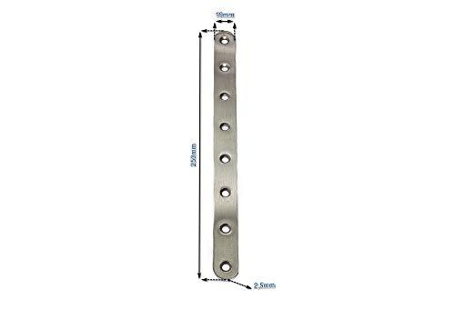 Edelstahl Verbinder 250x19mm Flachverbinder Lochplatte Platte Beschlag