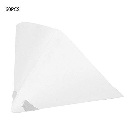 100 Mesh Lackiertes Papier Trichter Farbfilter Sieb Konischer Feinfilter Industrie-Beschichtungskegel-Trichter für Industrie-Farbfilter(60 Stück)