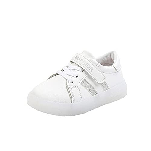 Niños Niños Chicas LED Lights Up Shoes Luminoso Transporte intermitente Transpirable Zapatillas de Zapatillas de Zapatillas Slight-on Low-Top Light Shoes para Chicas Boys ( Color : White , Size : 22 )