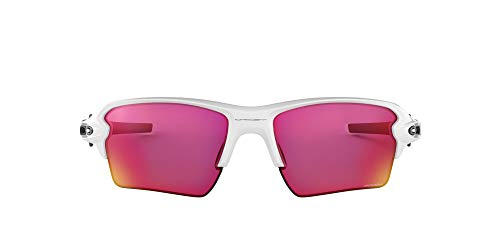 Oakley Men's OO9188 Flak 2.0 XL Sunglasses, Polished White/Prizm Field, 59 mm