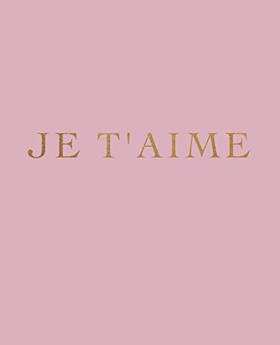 Je t'aime: A decorative book for interior design styling | Ideal for...