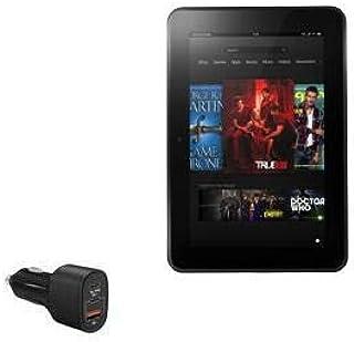 Carregador de carro para Kindle Fire HD 8.9 (2ª geração 2012), BoxWave [SwiftCharge PD QC4.0 Carregador para carro Plus (6...
