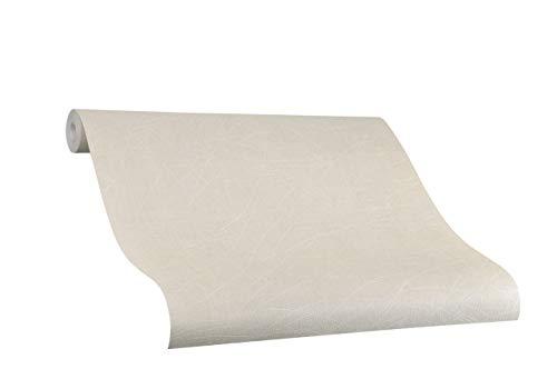 Tapete Beige Uni - Risse - Ideal für Wohnzimmer - Colani Visions - Made in Germany - 10,05m X 0,70m - 53310