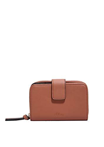 s.Oliver RED LABEL Damen Flap Wallet mit Ring-Detail hazelnut brown 1