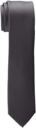 ESPRIT Collection Herren 998EO2Q801 Krawatte, Grau (Dark Grey 020), One Size (Herstellergröße: 1SIZE)