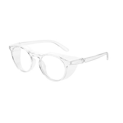 Anti Fog Safety Goggles UV400 Protective Glasses,Blue Light Blocking Eyeglasses for Men Women,TR90 Side Shields Protection (Transparent)