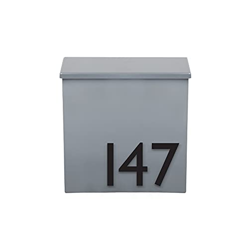 The Inbox Mailbox Wall Mounted Mailbox Made in The USA - Black, Brown, Grey, White Color Options with Durable Magnetic Numbers