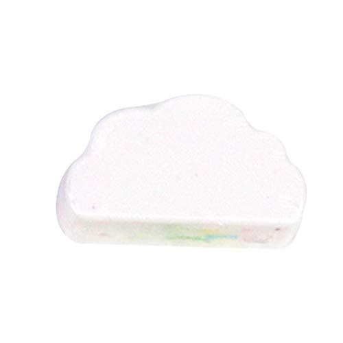 REEEDOM Arc-en-Cloud Bombe pour Le Bain À La Main en Mousse Lady Sel De Mer Bath Ball Release Rainbow Colors Colorés,Blanc