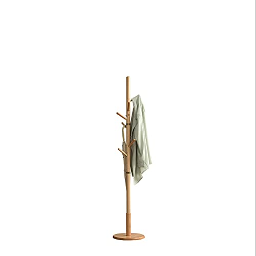 LICHUAN Perchero Nordic Solid Wood Coat Rack Suelo Dormitorio Partido Single Posado Ropa Rack Freestanding Fácil Asamblea Fácil Montaje (Color : Wood Color)