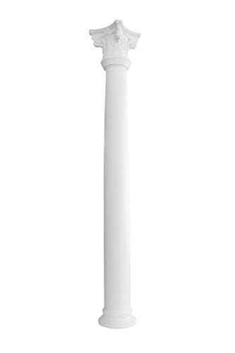 Kapitell für Säulen | glasfaserverstärkter Kunststoff | Fassade | Barock | Außendekor | Stuck | weiß | GFK | 355 x 355 mm | L401