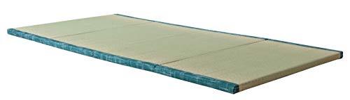 "MustMat Tatami Futon Mattress Traditional Japanese Tatami Mat Comfortable Japanese Tatami Bed Rush Grass 35.4""x78.7""x1.2"" (1 Piece)"