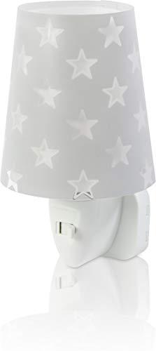 Dalber Nachtlicht Steckdose Kind Baby, LED Nachtlicht für Kinderzimmer, Sterne Stars Grau