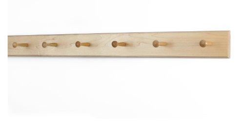 Solid Maple Shaker Peg Rack (Natural, 35