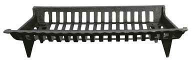 New Ace Fireplace Grate Cast Iron 27  W X 15  D Black