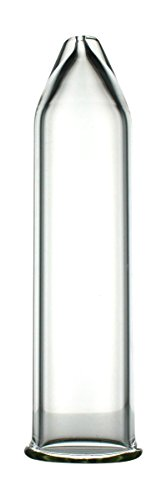 Extraction Proz 50-EXT-20 Glass Extractor Extraction Filter Tube 20' Long 50mm Diameter Clear with Stainless Steel Clamp