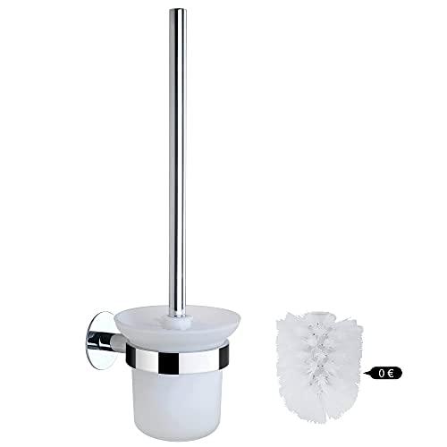 DUFU Spazzola WC Bagno e Porta Scopino,Set di Scopini per Bagno con Manico in Acciaio Inossidabile e...