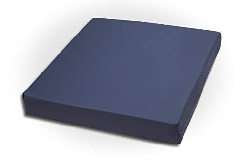 El Almacén del Colchón-Cojín antiescaras viscoelástico. Funda de PU antideslizante 42x42x7cm
