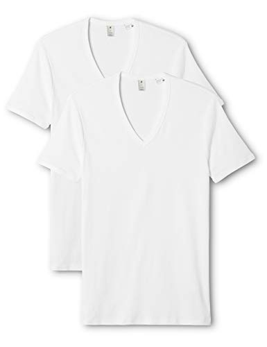 G-STAR RAW Herren Base V T S/S 2-Pack T-Shirt, Weiß (White 110), L