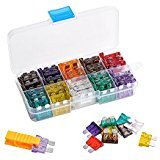 Standard ATO Car Blade Fuse Assortment 100 Pieces, 2, 3, 5, 7.5, 10, 15, 20, 25, 30, 35 Amp for Car Truck Boat SUV Automotive Replacement Fuses with Puller Extraction Tool Kit by Queenti