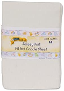 Kids Line Jersey Knit Fitted Cradle Sheet - Ecru