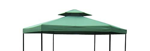 DEGAMO Ersatzdach für Pavillon Siena 6-eckig 350cm, Polyester mit PVC Beschichtung wasserdicht, dunkelgrün