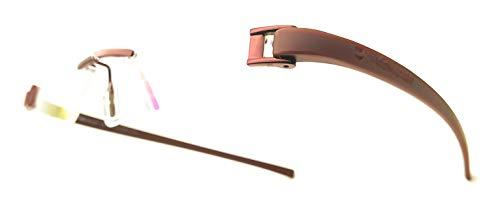 RSINC Rimless Tag eye,Light weight, frame/eyeglass/Spectacle Brown-Brown Medium Size
