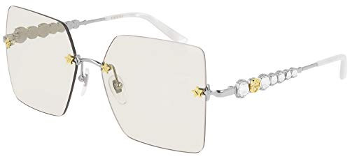 Gucci GG0644S Zonnebril ZILVER/LIGHT GREY 56/16/140 Dames