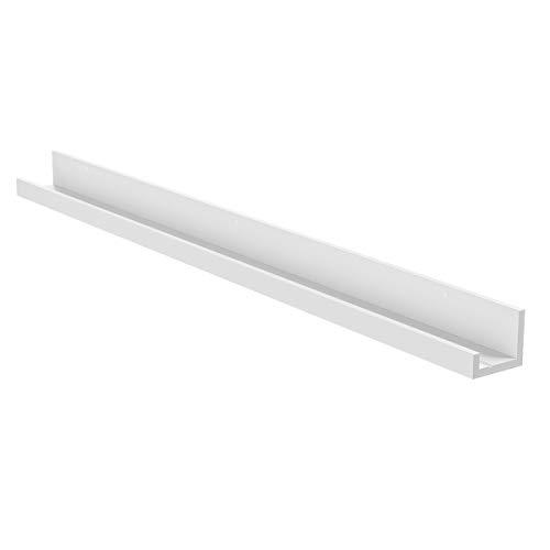 Ikea, White, MOSSLANDA Bilderleiste in weiß (115cm), Holz, 115,3 x 12,3 x 7,2 cm