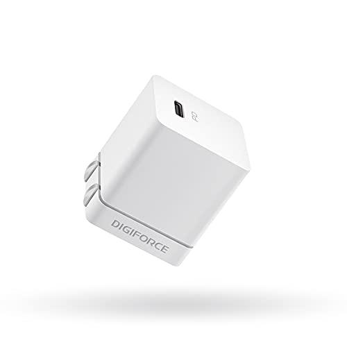 DIGIFORCE for iPhone13 充電器 20W PD 充電器 Type-C 超小型 急速充電 USB-C タイプc 充電器 【PSE認証済/PD&QC3.0対応】 折畳式 for iPhone 12 Android その他 各種機器対応 acアダプター (ホワイト)