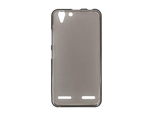 etuo Handyhülle für Lenovo K5 Plus - Hülle FLEXmat Case - Schwarz - Handyhülle Schutzhülle Etui Case Cover Tasche für Handy