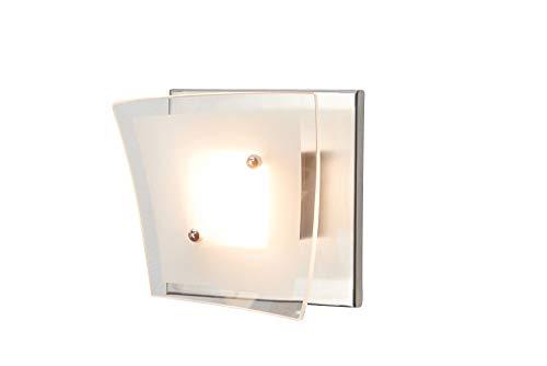 anTes interieur LED Wandleuchte Deckenleuchte Lumia/Glas/Chrom/Wandlampe Deckenlampe