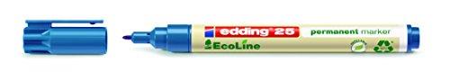 edding Permanentmarker 25 EcoLine, nachfüllbar, 1 mm, blau