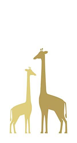 fotobehang giraffen okergeel - 158925 - van ESTAhome