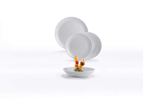 Dajar 00437 Tafelservice Hartglasgeschirr Geschirrset Tafelset Essservice Geschirr Diwali Granit 18 TLG. Geschenk glatt stapelbar modern Glas Spülmaschinen Mikrowellen geeignet LUMINARC