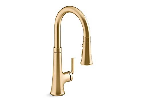 Kohler 23764-2MB Tone Kitchen Sink Faucet, Vibrant Brushed Moderne Brass