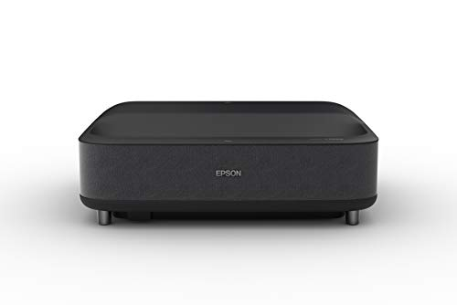 Epson – EpiqVision Ultra LS300 Smart Streaming Laser Ultra Short Throw Projector with HDR and Android TV – Black