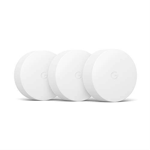 Google Learning Thermostat Nest Temperature Sensor, Bluetooth Enabled, White, 3 Pack, 3 Count