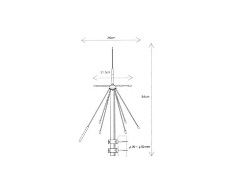 Diamond D-190 Breitband Discone-Antenne