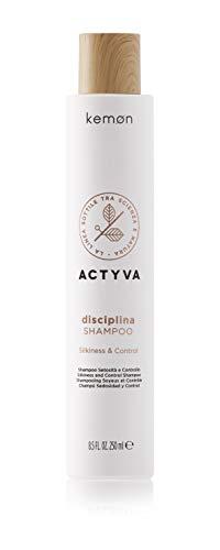 Kemon Actyva Disciplina Shampoo - Pflege-Shampoo für krauses und widerspenstiges Haar, reinigende Feuchtigkeits-Haarpflege - 250 ml