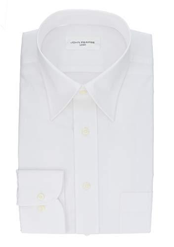 [コナカ] 形態安定加工/油汚れを浮かせて、洗い流しやす/油汚れを浮かせて、洗い流しやす/オールシーズン/レギュラーシルエット【少しゆったり】/選べるバリエーション【レギュラーカラー/ボタンダウン】/メンズワイシャツ YS-JP-WHITE-OG 白無地(レギュラー) 首回 45-86cm (日本サイズ3L相当)