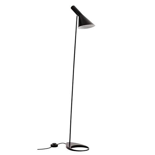 AJ Retro Lámpara de pie de Hierro Forjado, E27 Negro Simple Soporte de Metal Lámpara, Adecuado para Sala de Estar Dormitorio Sala de Estudio Sofá Sofá Escritorio de la Cama Iluminación